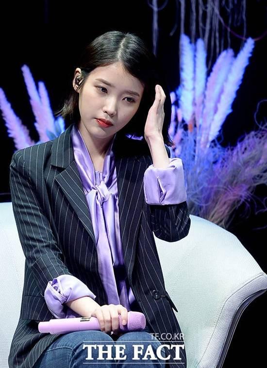 가수 아이유는 21일 오후 6시 정규 4집 '팔레트'를 발표했다. /임세준 기자