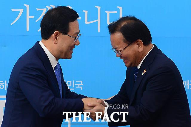 주호영 바른정당 원내대표 예방